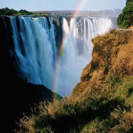 Rainbow and Main Falls at Victoria Falls