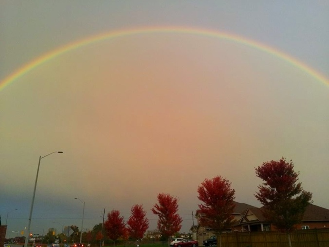 Rainbow over Bowmanville