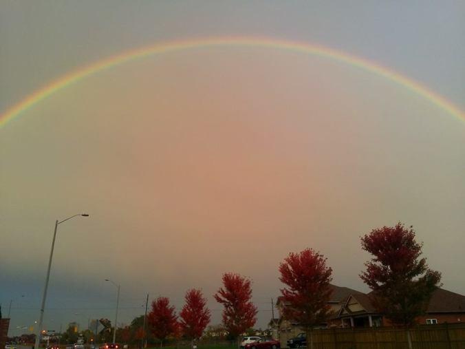 rainbow over bowmanville
