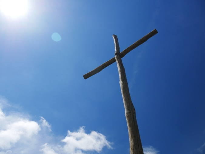 blue sky cross